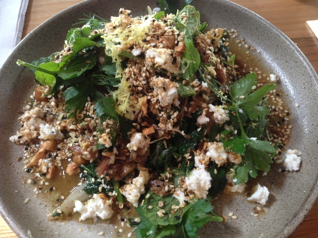 Spiced Slow Roast Poon Boon Lamb, Chickpeas, Spinach, Ewes Milk Feta, Herbs and Dukkah - Small Victories, Carlton North