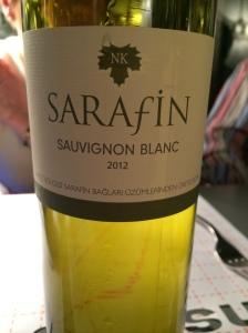 Sarafin Sauvignon Blanc 2012 (Istanbul Culinary Institute, Istanbul, Turkey)