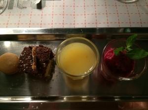Dessert sampler platter (Istanbul Culinary Institute, Istanbul, Turkey)