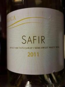 Doluca Safir 2011 Semi-Sweet White Wine - Mikla, Istanbul, Turkey