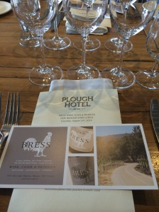 Bress Wine, Cider and Produce New Release Wine Lunch 2014 - Plough Hotel, Footscray