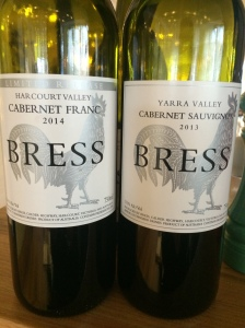2014 Cabernet Franc and 2013 Cabernet Sauvignon; Bress Wine, Cider and Produce New Release Wine Lunch 2014 - Plough Hotel, Footscray