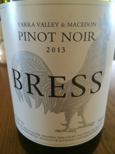 2013 Pinot Noir; Bress Wine, Cider and Produce New Release Wine Lunch 2014 - Plough Hotel, Footscray