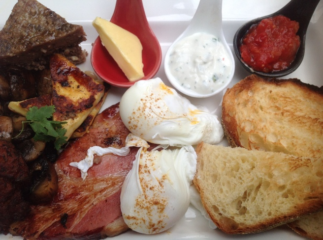 Cafe Fez Big Breakfast - Cafe Fez @ Red Ramia, Myrtleford