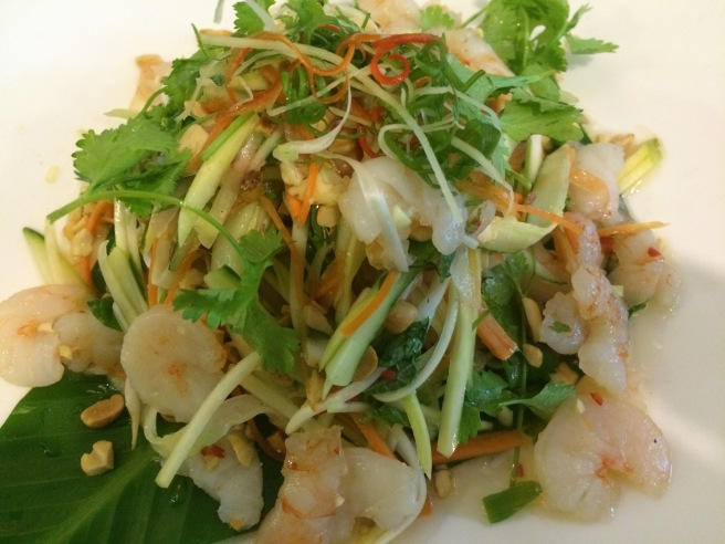 Green mango salad with prawns - KOTO Restaurant, Hanoi, Vietnam