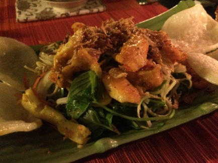 Banana Flower Salad with Seafood, Serene Garden Restaurant, Hue - Vietnam Culinary Discovery