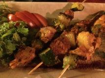 Chicken Skewers, Serene Garden Restaurant, Hue - Vietnam Culinary Discovery