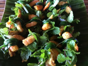 Shrimp, mint and chive, Tra Que Village - Vietnam Culinary Discovery