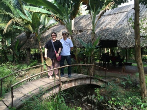 Kylie & Binh, Village lunch, Mekong Delta cruise - Vietnam Culinary Discovery