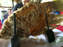 Elephant Ear Fish - Village lunch, Mekong Delta cruise - Vietnam Culinary Discovery