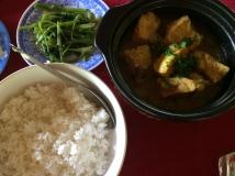 Lemongrass chicken in claypot - Village lunch, Mekong Delta cruise - Vietnam Culinary Discovery