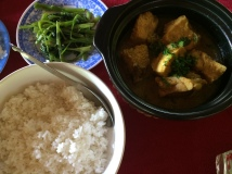 Lemongrass chicken in claypot - Village lunch, Mekong Delta cruise - Vietnam Culinary Discovery