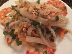 Lotus Stems Salad with Shrimps & Pork, Lemongrass Restaurant, HCMC - Vietnam Culinary Discovery