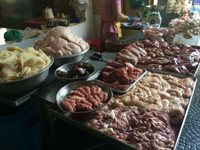 Pig for sale, Market tour - Saigon Cooking Class, HCMC - Vietnam Culinary Discovery