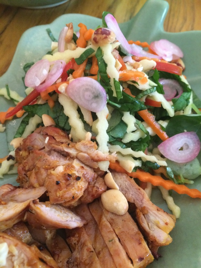 Green mango salad with char-grilled chicken, Saigon Cooking Class, HCMC - Vietnam Culinary Discovery