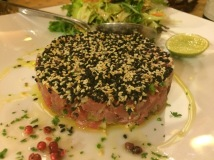 Tuna tartare with wasabi and sesame seeds - La Fourchette, HCMC - Vietnam Culinary Discovery