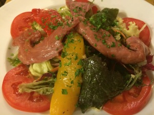 Smoked duck salad with red capsicums - La Fourchette, HCMC - Vietnam Culinary Discovery
