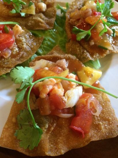 Fried Wontons (Hoanh Thanh Chien), Miss Ly Cafe, Hoi An - Vietnam Culinary Discovery