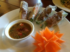 Grilled Pork Spring Rolls (Thit Nuong), Miss Ly Cafe, Hoi An - Vietnam Culinary Discovery