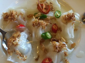 White Rose dumplings (Banh Bao), Miss Ly Cafe, Hoi An - Vietnam Culinary Discovery