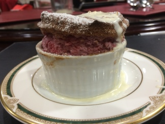 Raspberry Souffle with Rose Petal Cream - Duck and Pinot Masterclass - Luv-a-Duck, Port Melbourne