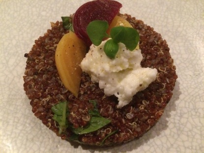 Candied roasted beets with quinoa and buffalo mozzarella- The Grand, Richmond