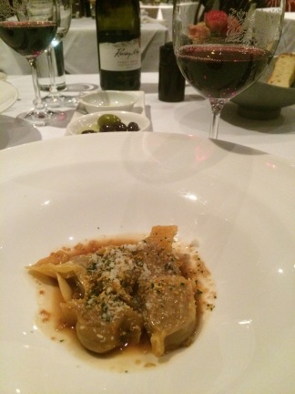 Beef caramelle pasta with grand padano & gremolata - The Grand, Richmond