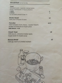 Menu - Fandango, North Melbourne