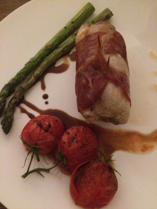 Chicken à la Adrian with a 'Stop & Go' accompaniment - ALDI Degustation Dinner