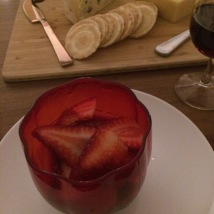 Dark chocolate mousse with fresh strawberries - ALDI Degustation Dinner