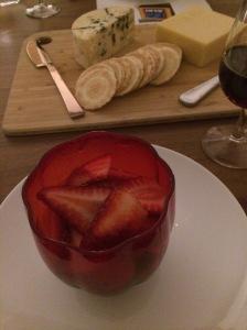 Dark chocolate mousse with fresh strawberries - ALDI Degustation Dinner