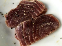 Tuna marinated in lime juice and black pepper - Jetwing Beach Cooking Experience - Negombo, Sri Lanka