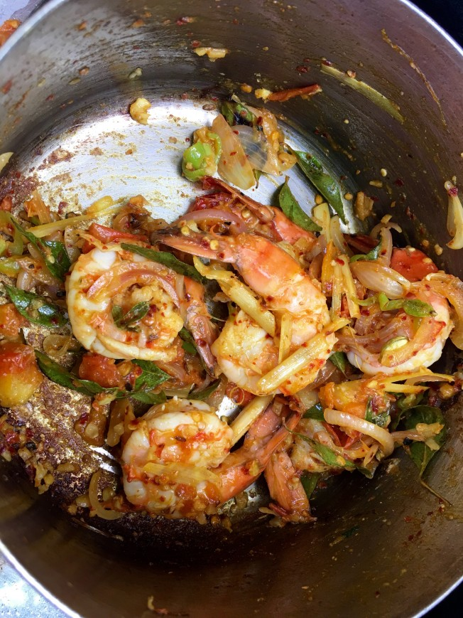 Prawn curry - Jetwing Beach Cooking Experience - Negombo, Sri Lanka