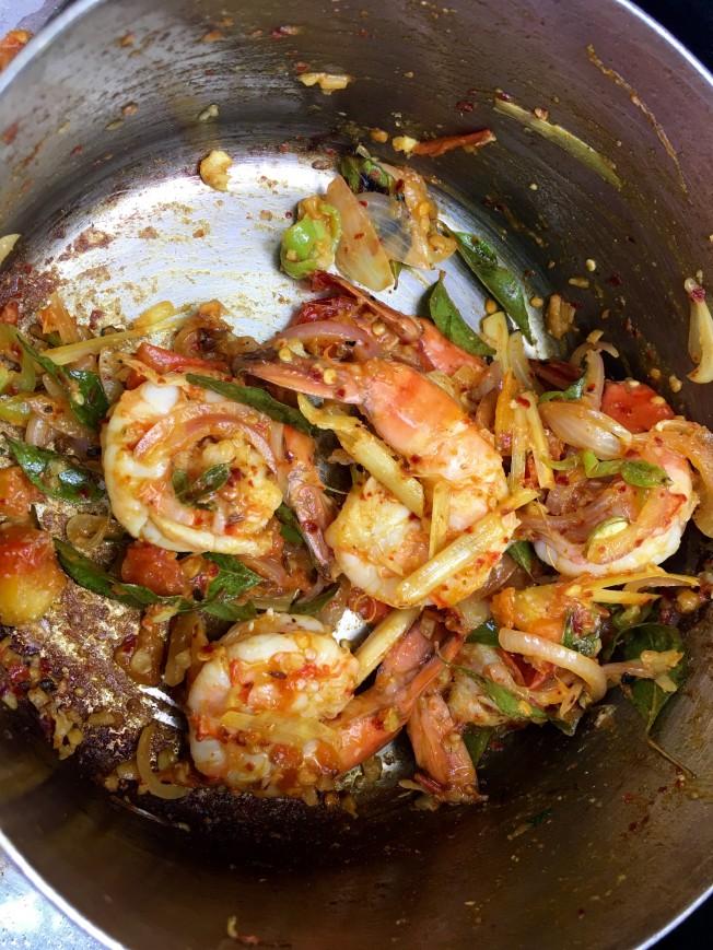 Prawn curry - Jetwing Beach Cooking Experience - Negombo, Sri Lanka