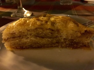 Baklava at the Welcome Dinner - Real Food Adventure Macedonia and Montenegro