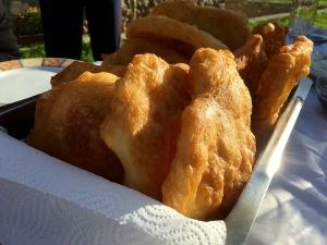 Mekici Macedonian fried dough - Real Food Adventure Macedonia and Montenegro