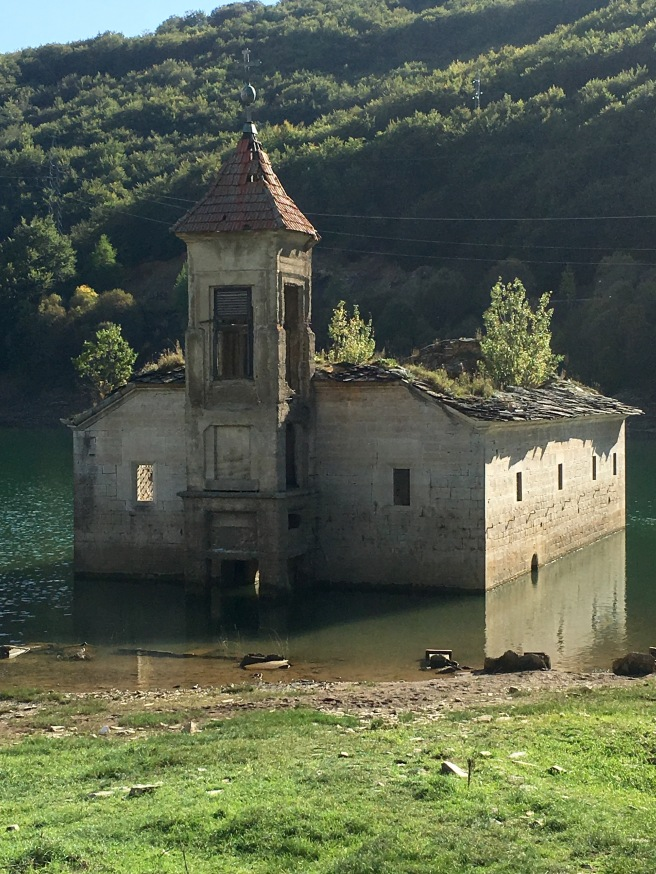 Abandoned church of St Nikolas in Mavrovo Lake - Real Food Adventure Macedonia and Montenegro