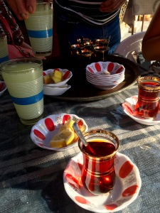 Turkish tea house, Old Bazaar Skopje - Real Food Adventure Macedonia and Montenegro