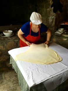 Learning to make a pastry pie in Jance - Real Food Adventure Macedonia and Montenegro