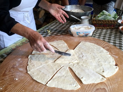 Cooking demonstration with Milka in the village of Brajcino - Real Food Adventure Macedonia and Montenegro