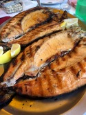 Grilled trout from Lake Ohrid - Real Food Adventure Macedonia and Montenegro