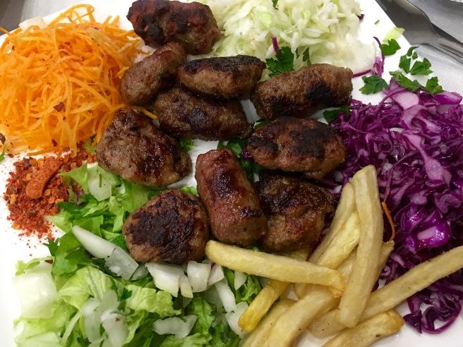 Qebap plate - Real Food Adventure Macedonia and Montenegro