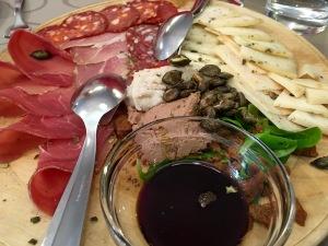 Ljubljana tasting plate lunch - Real Food Adventure Slovenia and CroatIa