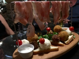 Mezze at a wine bar in Bitola - Real Food Adventure Macedonia and Montenegro