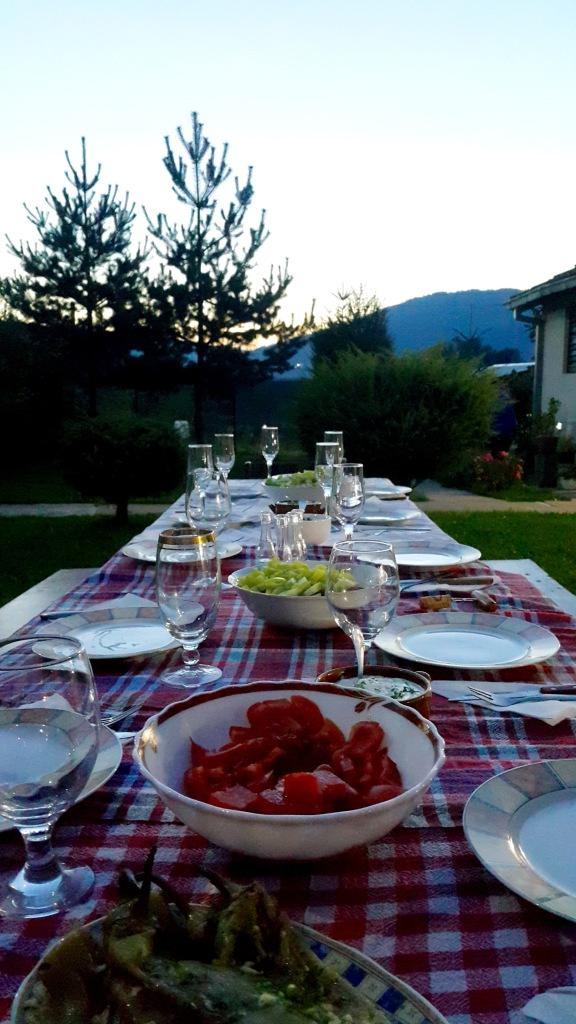 Dinner in Leunovo - Real Food Adventure Macedonia and Montenegro