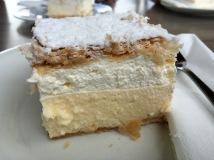 Bled cream cake (kremsnita) - Real Food Adventure Slovenia and Croatia