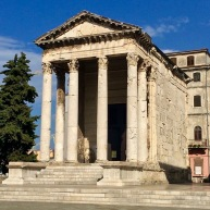 Roman Forum Pula - Real Food Adventure Slovenia and Croatia