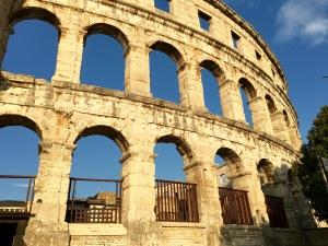 Roman Amphitheater Pula - Real Food Adventure Slovenia and Croatia