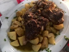 Roast lamb with potatoes