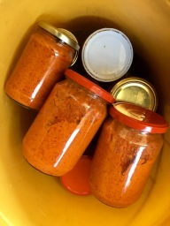 Jars of ajvar - Real Food Adventure Macedonia and Montenegro
